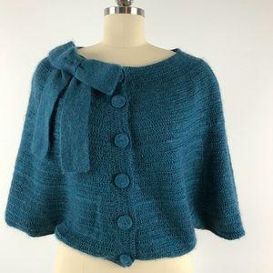 Nanette Lepore Crochet Knit Poncho Sz. XS